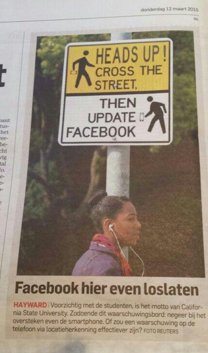 Grappig verkeersbord algemeen dagblad 12 maart
