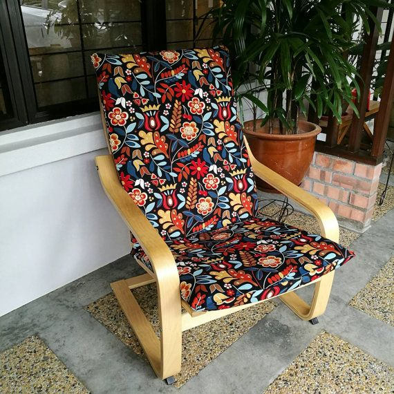 Ikea Poang Chair Cushion Cover Dark Floral Chair Cushion