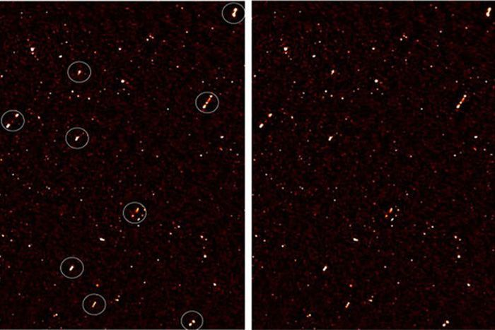 A highly sensitive radio telescope has seen something peculiar in the depths of our cosmos: A group of supermassive black holes are mysteriously aligned, as if captured in a synchronized dance.