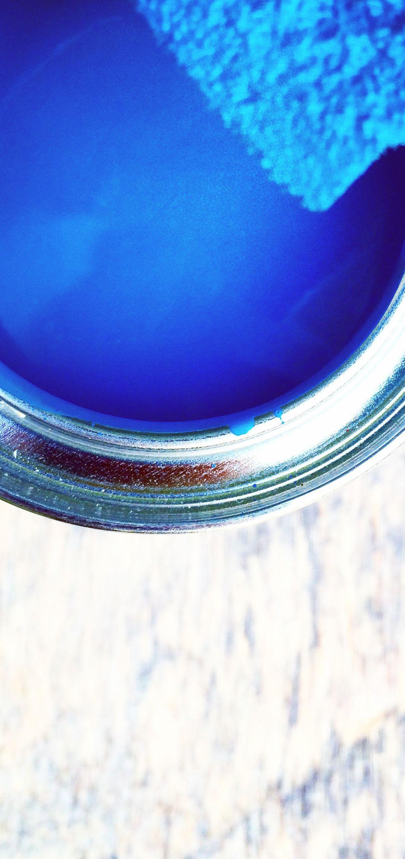 Sininen maali.
