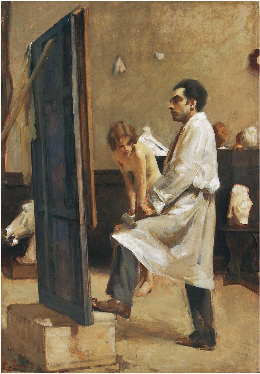 "ALESSANDRO POMI, ""CONTEMPLAZIONE"" (CONTEMPLATION), 1930-35, OLIL ON PANEL, 88 X 68.5 CM, PRIVATE COLLECTION."