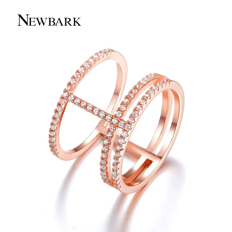 Find More Rings Information about NEWBARK Trendy Ring Pave Setting Zirconia…