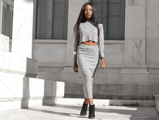 Get this look: http://lb.nu/look/7945246  More looks by Rachel  O.: http://lb.nu/chicglamstyle  Items in this look:  Regalis Collection Knit Skirt, Regalis Collection Knitted Crop Top   #knits #coords #trend #cozy