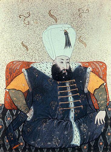 Sultan Mehmed III, 1595-1603, portrait from nineteenth century manuscript  no 3109, Topkapi Palace Museum, Istanbul, Turke…   Mehmed iii, Topkapi,  Miniature painting