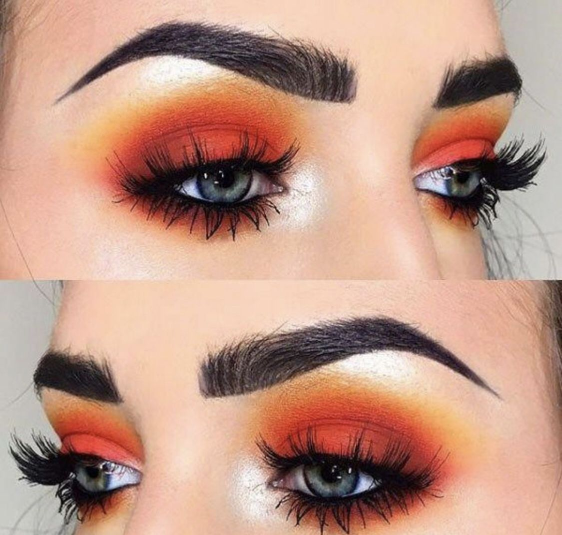 Firey and hot and everything spicy in this eye look. Love