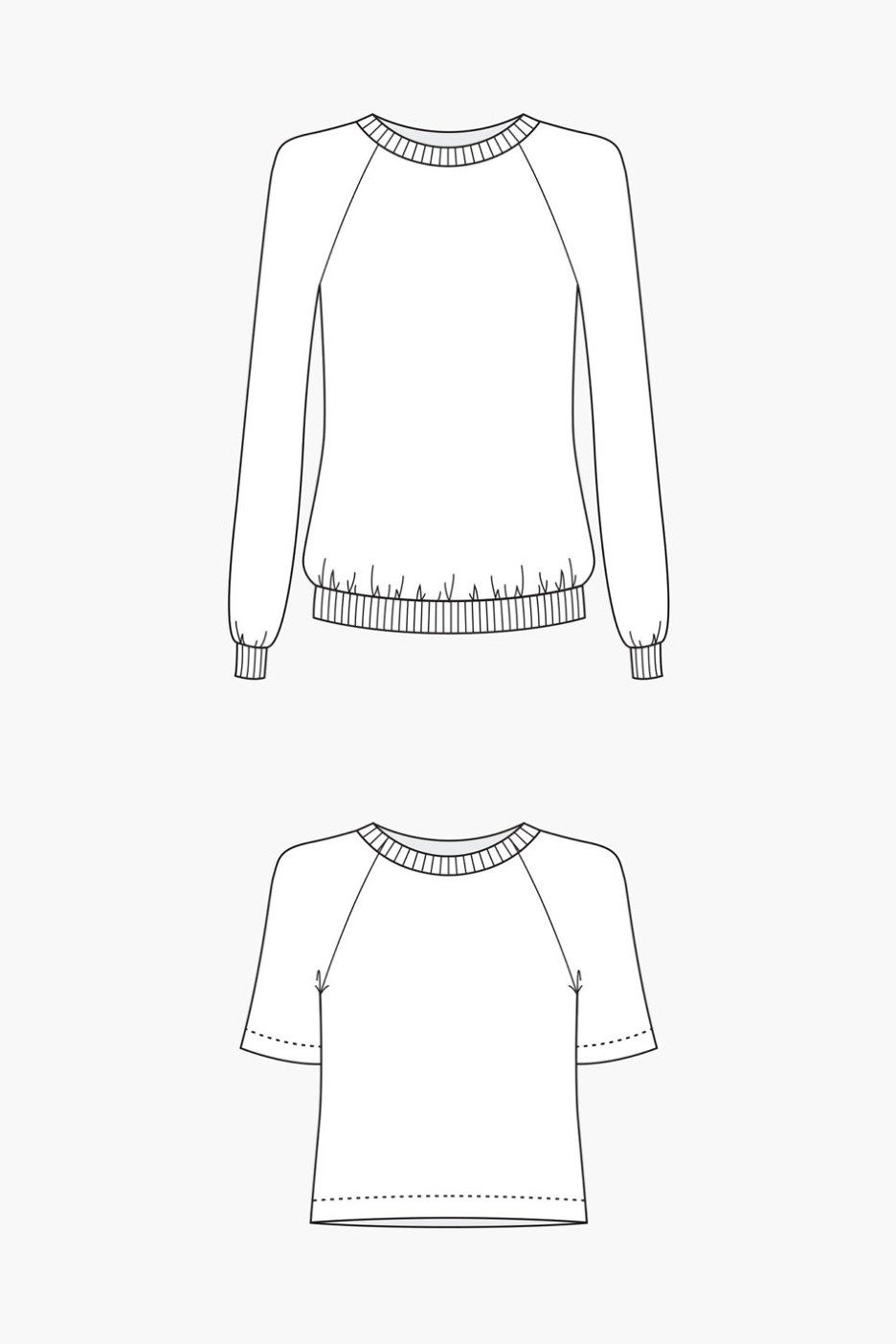Linden Sweatshirt Sewing Pattern by Grainline Studio   Why Sew ...