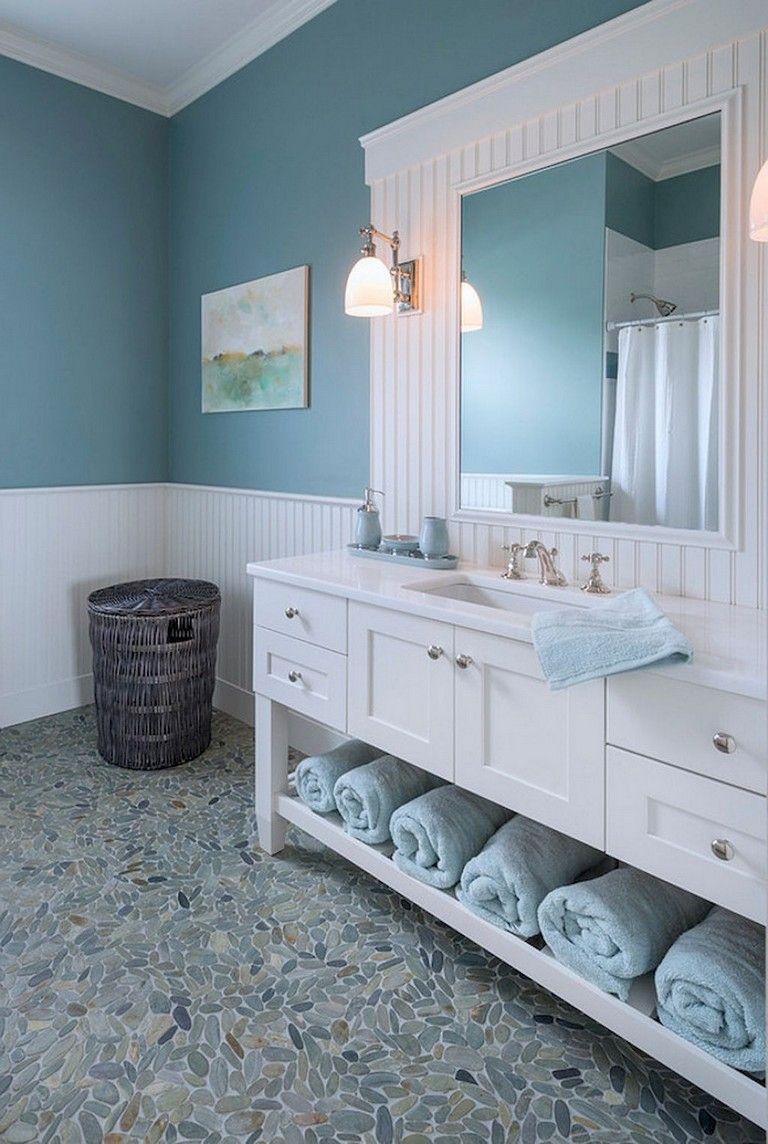 45 Remarkable Coastal Beach Bathroom Makeover Ideas Inexpensive