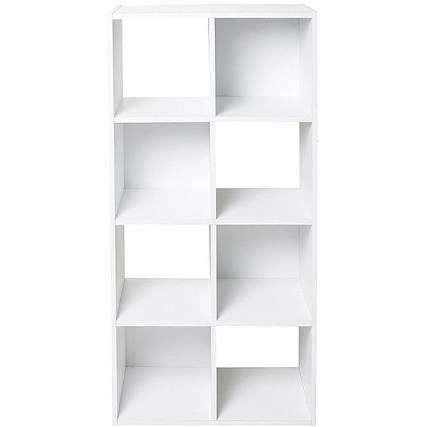 8 Unit Bookshelf White Target Australia 39 Aud Liked On Polyvore Featuring Home Furniture Storage Sh Cube Storage Unit Cube Storage 8 Cube Storage Unit