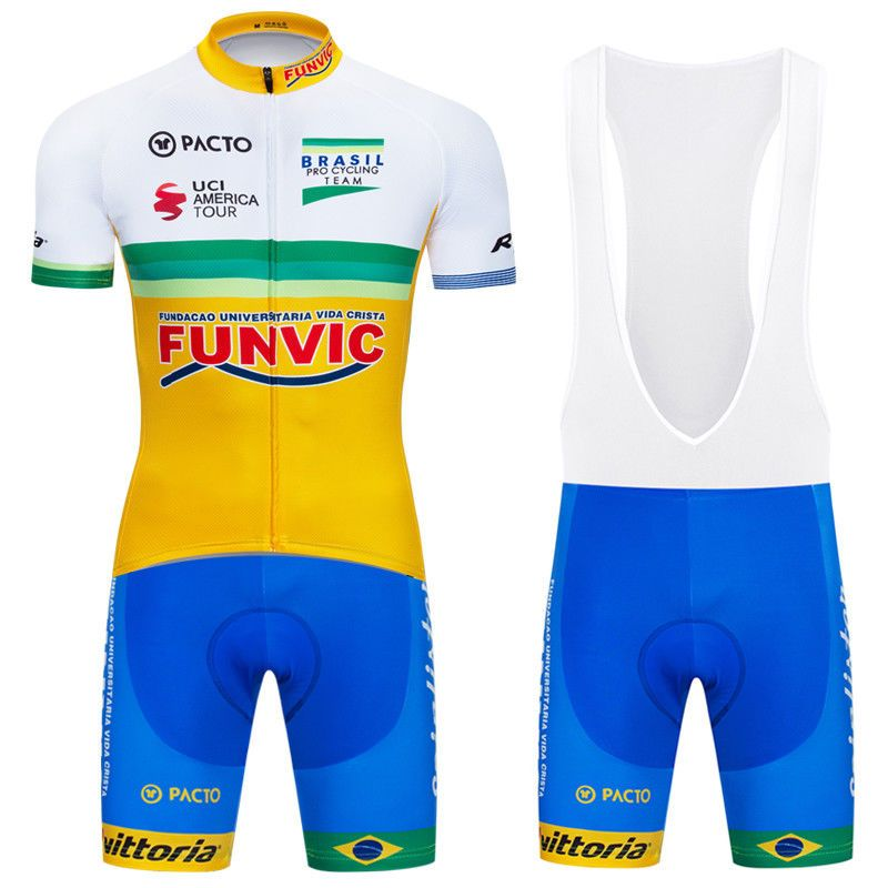 Men Yellow Sports Bike Cycling Jersey Bib Shorts Set Bicycle Jerseys Pants  Suits  Unbranded 07b429419