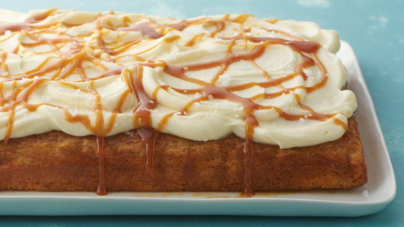 Salted Caramel Carrot Poke Cake Recipe Desserts Carrot Poke Cakes Spring Desserts