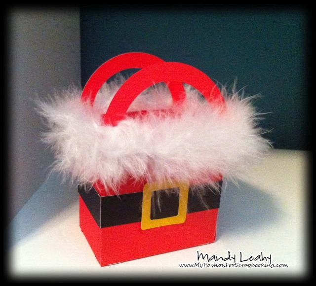 78e04ab527db Fun   furry little Santa Gift Bag made using the Art Philosophy Cricut  Cartridge