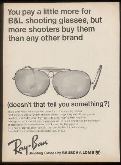5f2870fa2910 1968 Ray ban shooting   Vintage Eyewear 1960 in 2019   Glasses ...