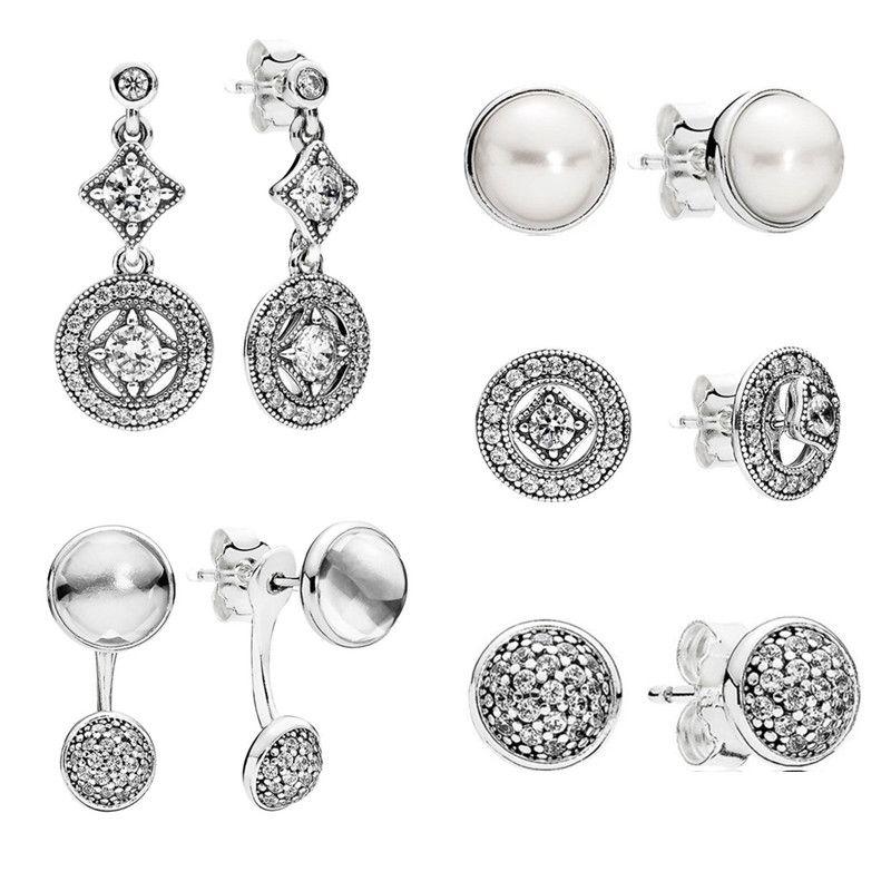 2016 Jewelry set autumn earrings collection 925 sterling silver earrings for women Dazzling Droplets brincos fine Memnon jewelry