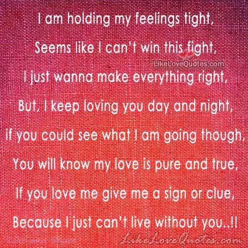 Because I just can\'t live without you..!! | Love Quotes ...