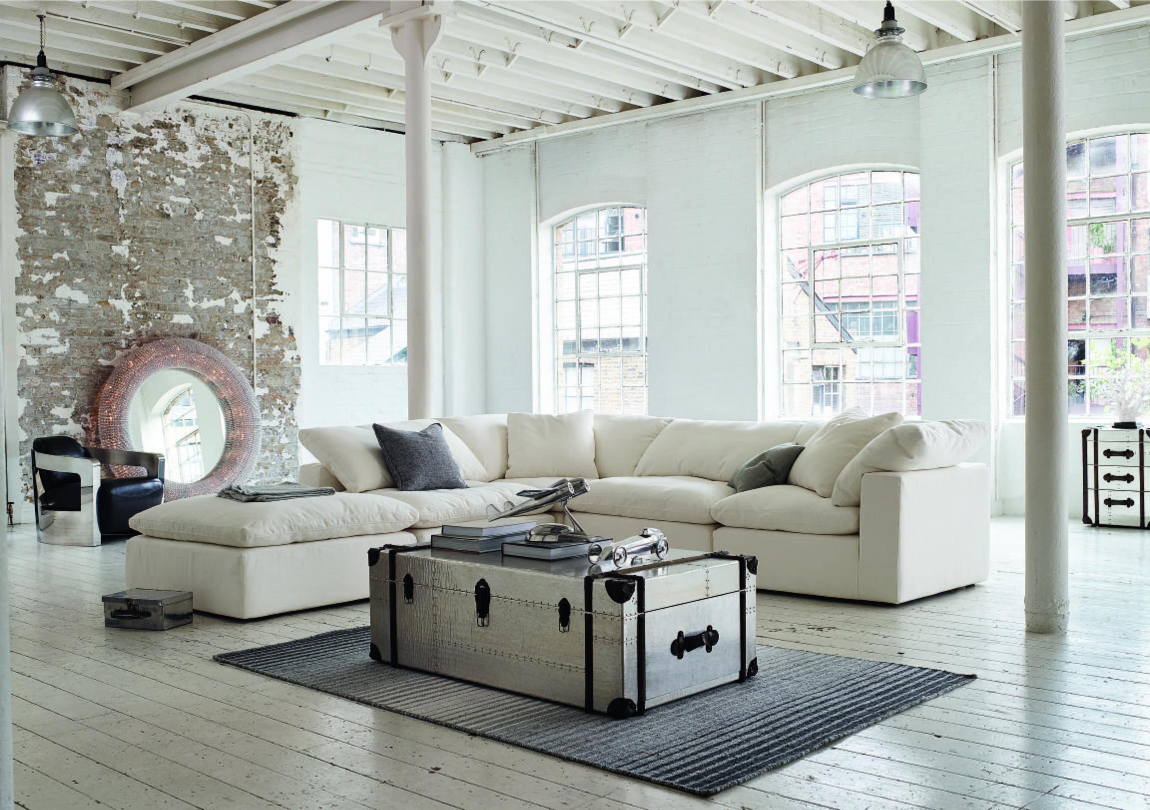 Cloud Fabric Corner Sofa Halo Save £1200 Furniture Village
