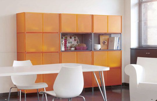 One Storage System By Piero Lissoni, Maui Chair By Vico Magistretti, Max  Table By
