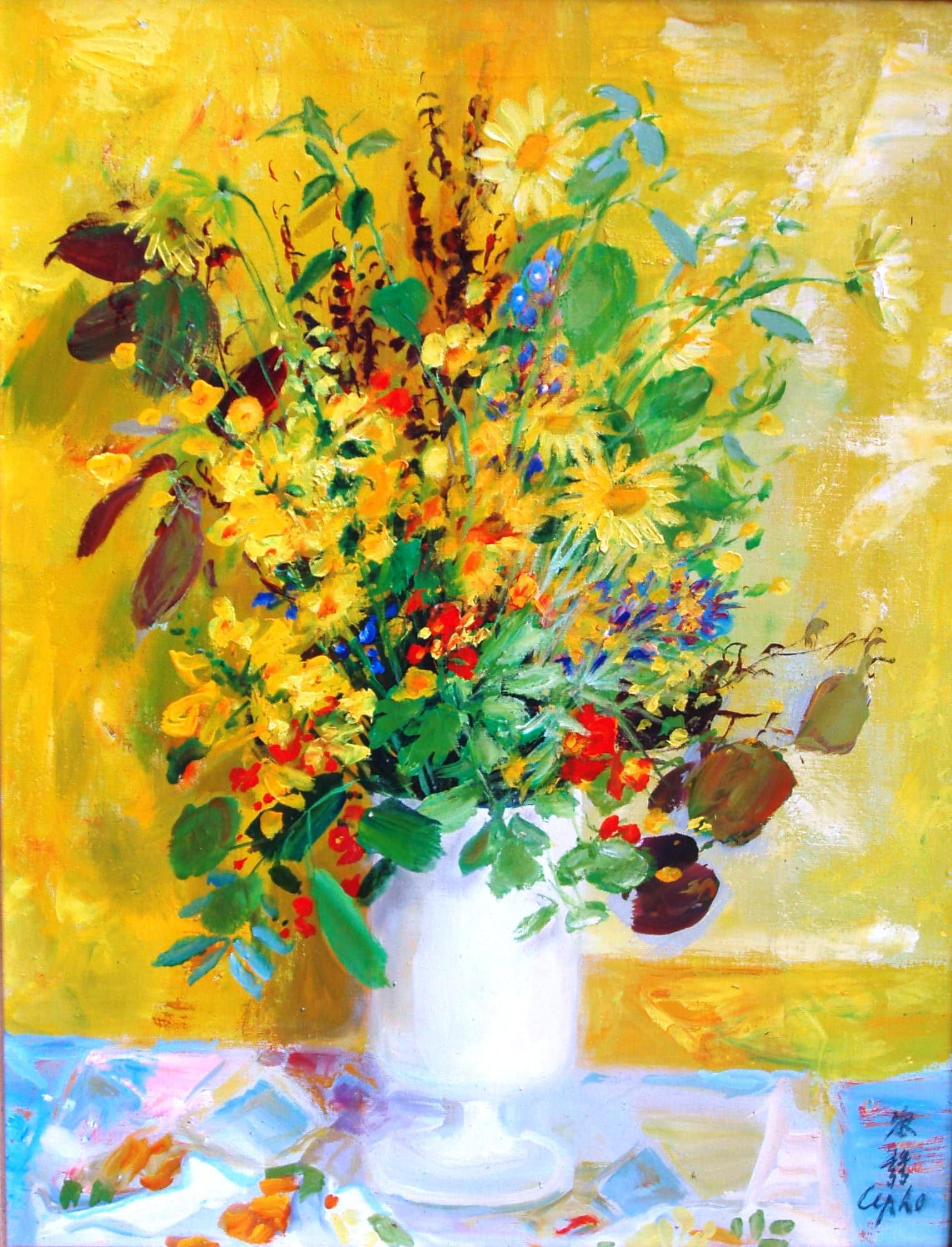 Fleurs By Le Pho Vietnam Painting Flower Painting Painting