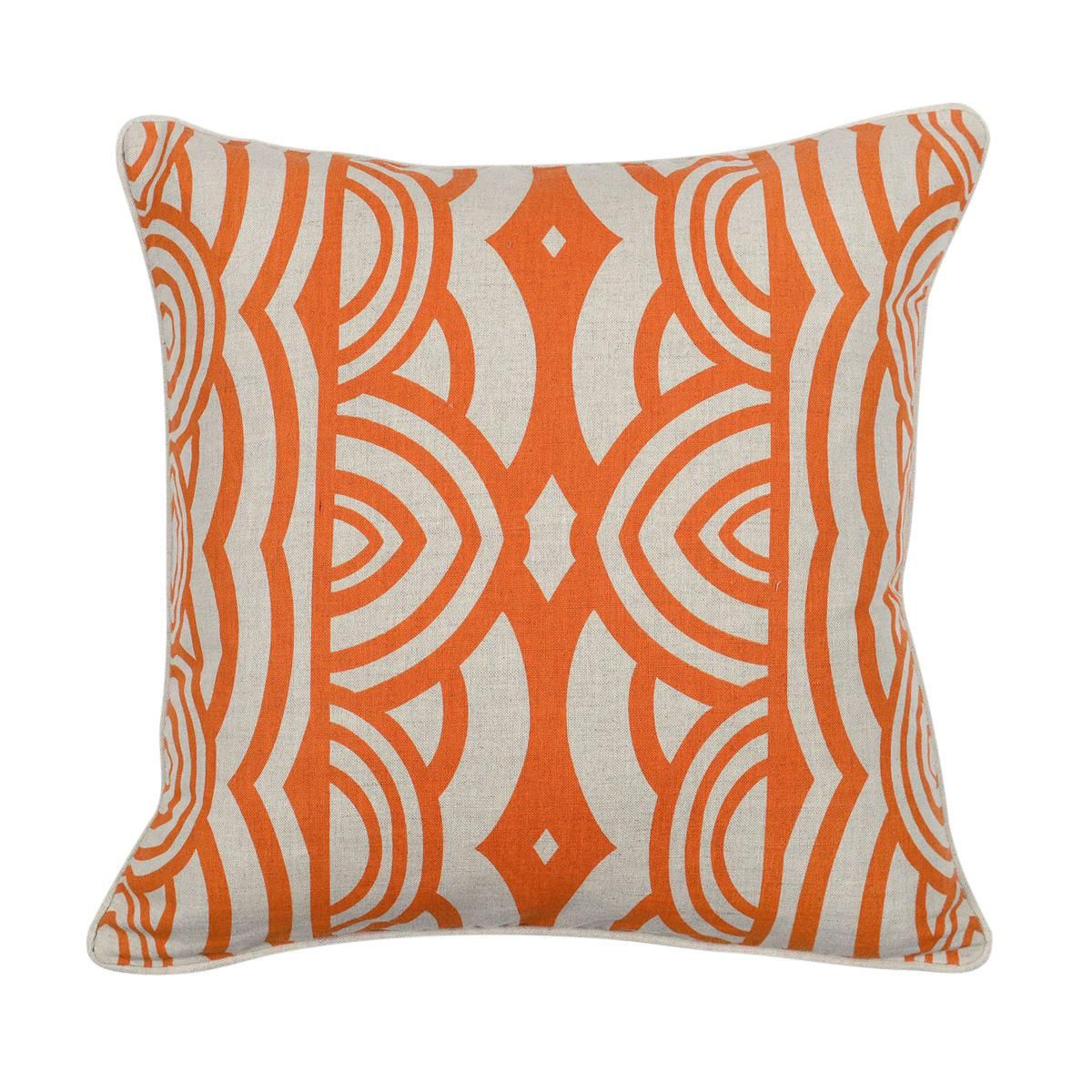 modern orange down pillow  products orange and modern - image of modern orange down pillow
