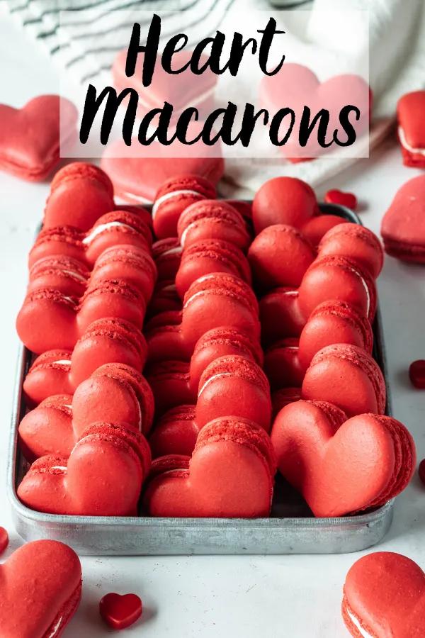 Heart Shaped Macarons (video + template)