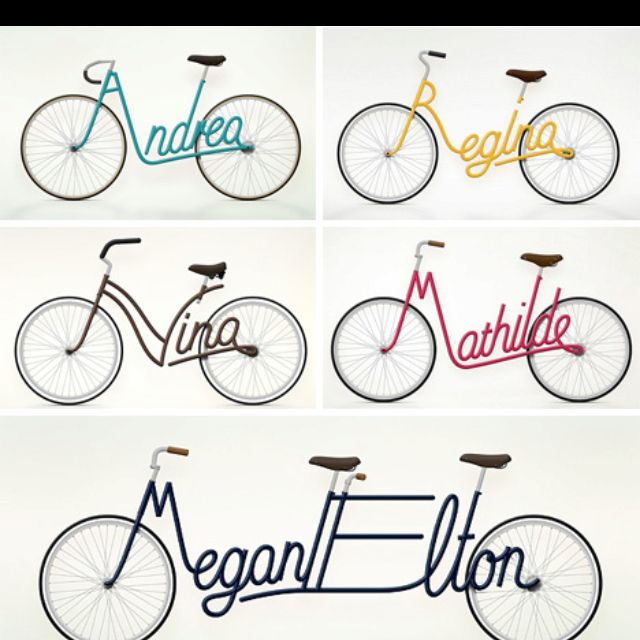 Name Bike Art Want One With The 4 Of Us Bicycle Art