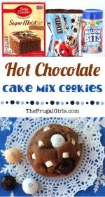 Hot Chocolate Cake Mix Cookies