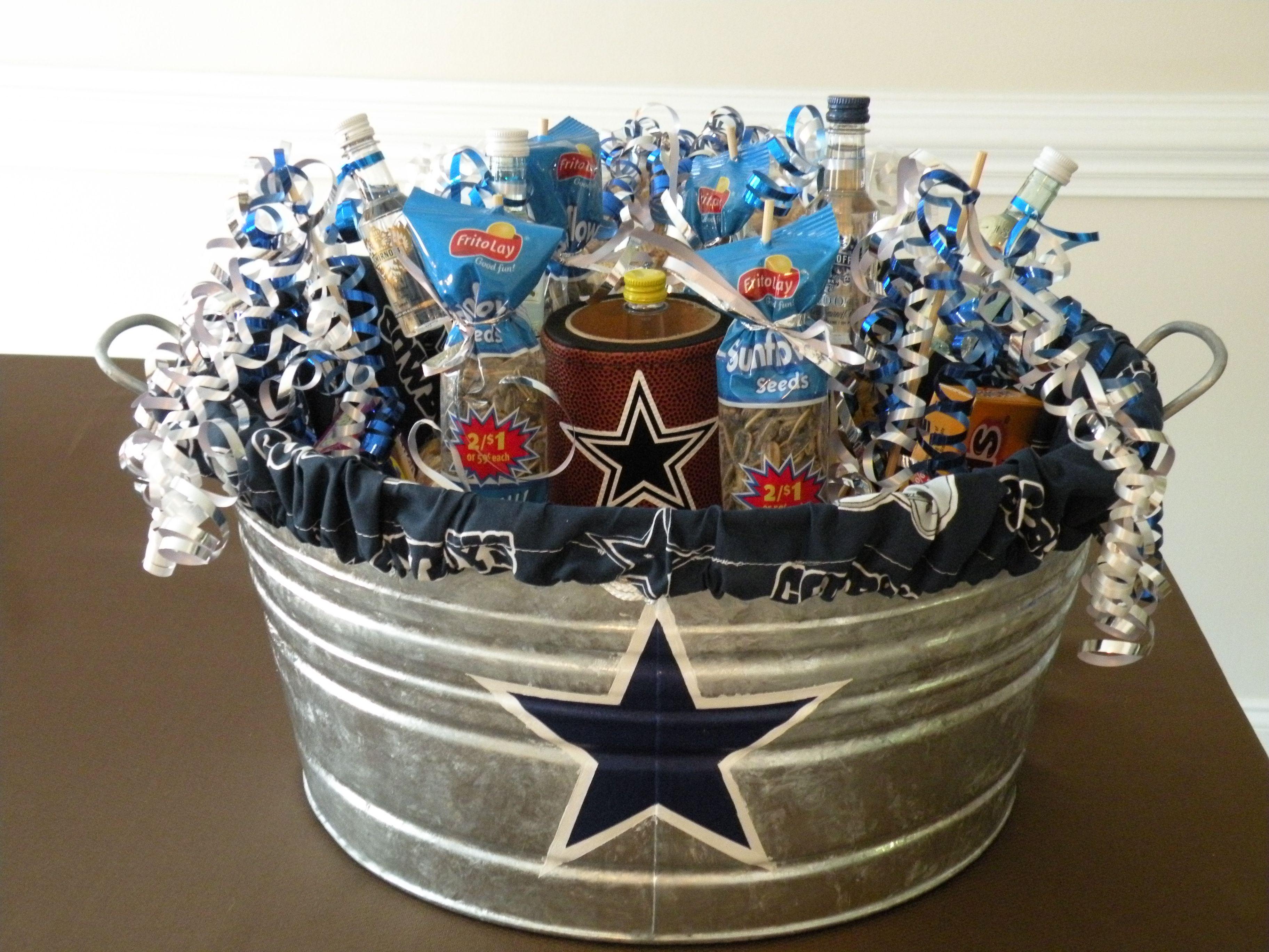 Husbands Dallas Cowboys Birthday Gift Filled With Big Boy Stuff