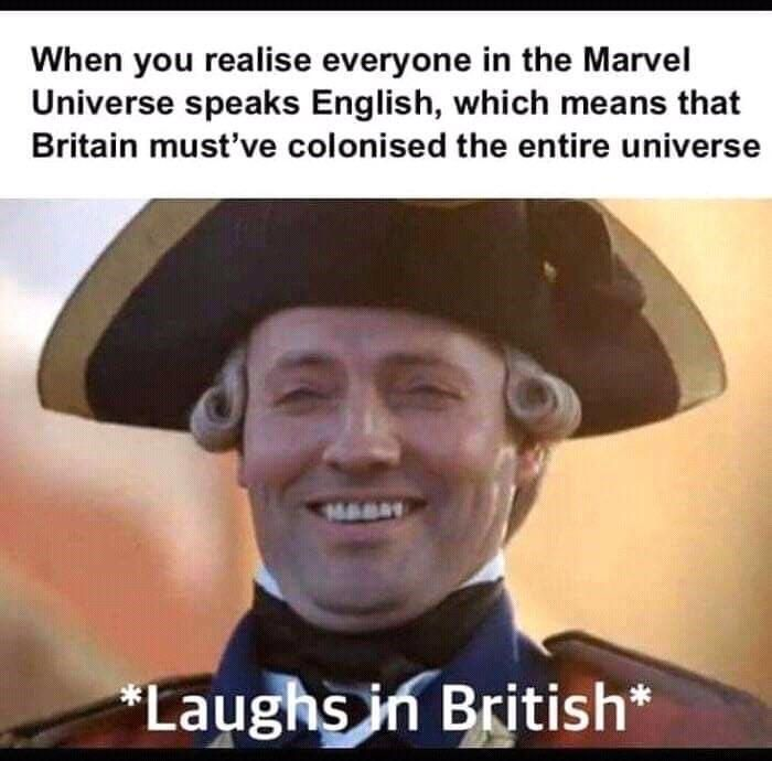 God Save The Queen In 2020 British Memes Funny Marvel Memes Marvel Memes
