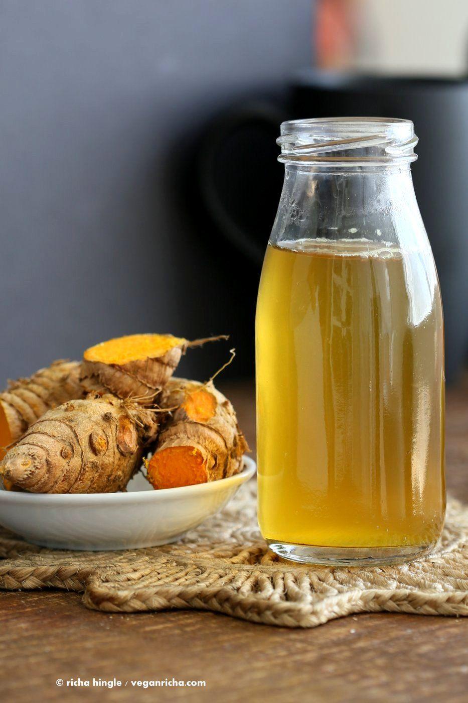 Ginger Turmeric Root Tea Vegan Richa Recipe Hot Tea Recipes Turmeric Recipes Turmeric Root