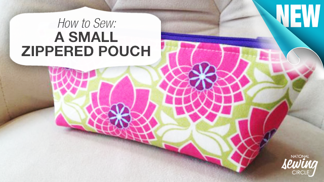 Sewing Project How to Sew a Zippered Pouch The Sewing