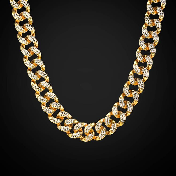 7a77547c4 Iced Out Cuban Link Chain 14MM Chunky Chain Rapper Migos Jewelry – U7  Jewelry