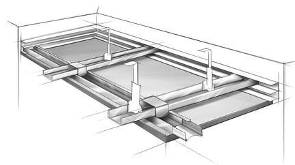 Knauf Amf System B Screw Systems Tile Installation Ceiling Grid Wall Systems