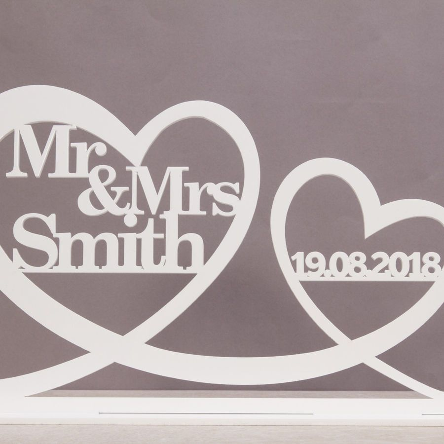 Personalised MR/&MRS Sign Wedding Top Table Decoration with date Mr And Mrs,Gift