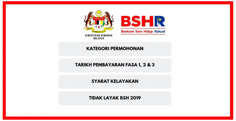 Bantuan Sara Hidup Bsh 2019 Status