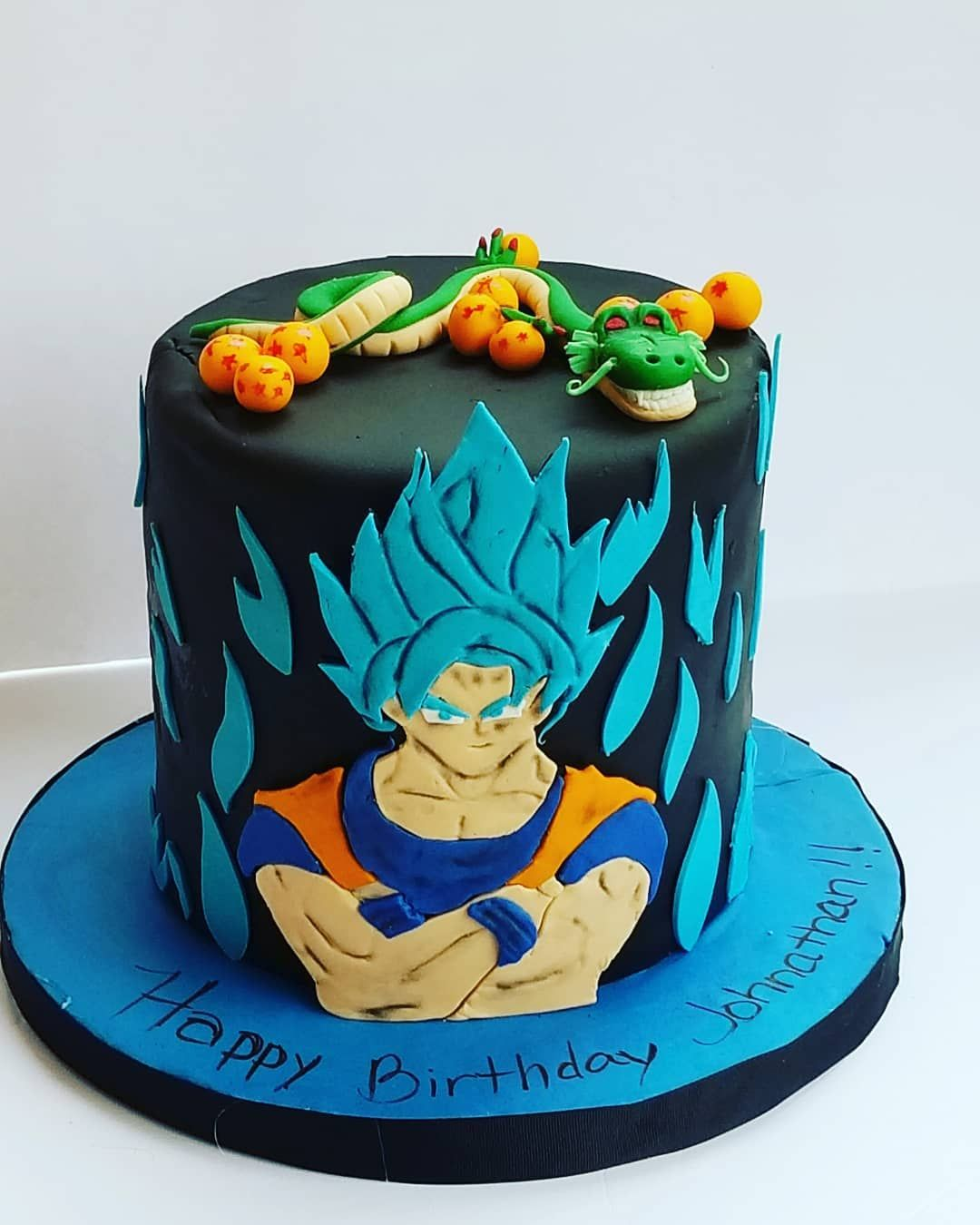 2d Goku Dragonball Z Cake With Images Dragonball Z Cake Boy