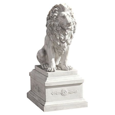 Showcasing a faux stone finish and Lion of Florence design, this eye-catching statuette brings stately style to your garden or entryway.