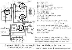 Compact Hi Fi Amplificador De Potencia Schematic