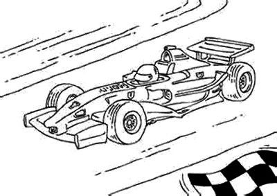 Print the F1 Race Car Coloring Page and then fill it with crayons
