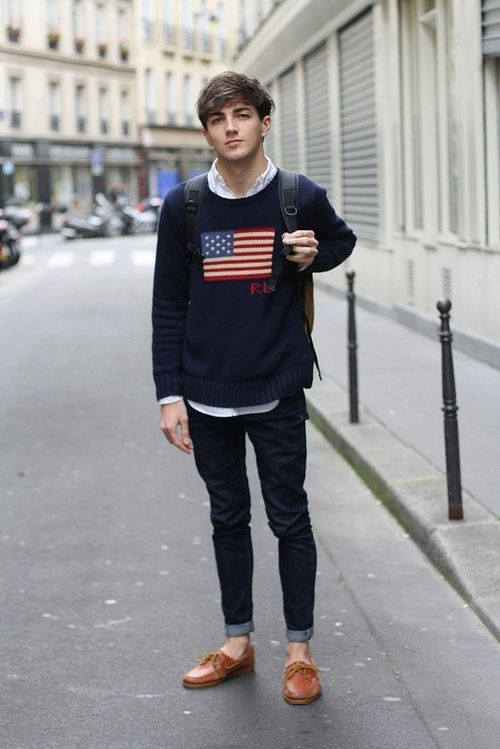 Cute Boy Wearing His Love For America On Chest