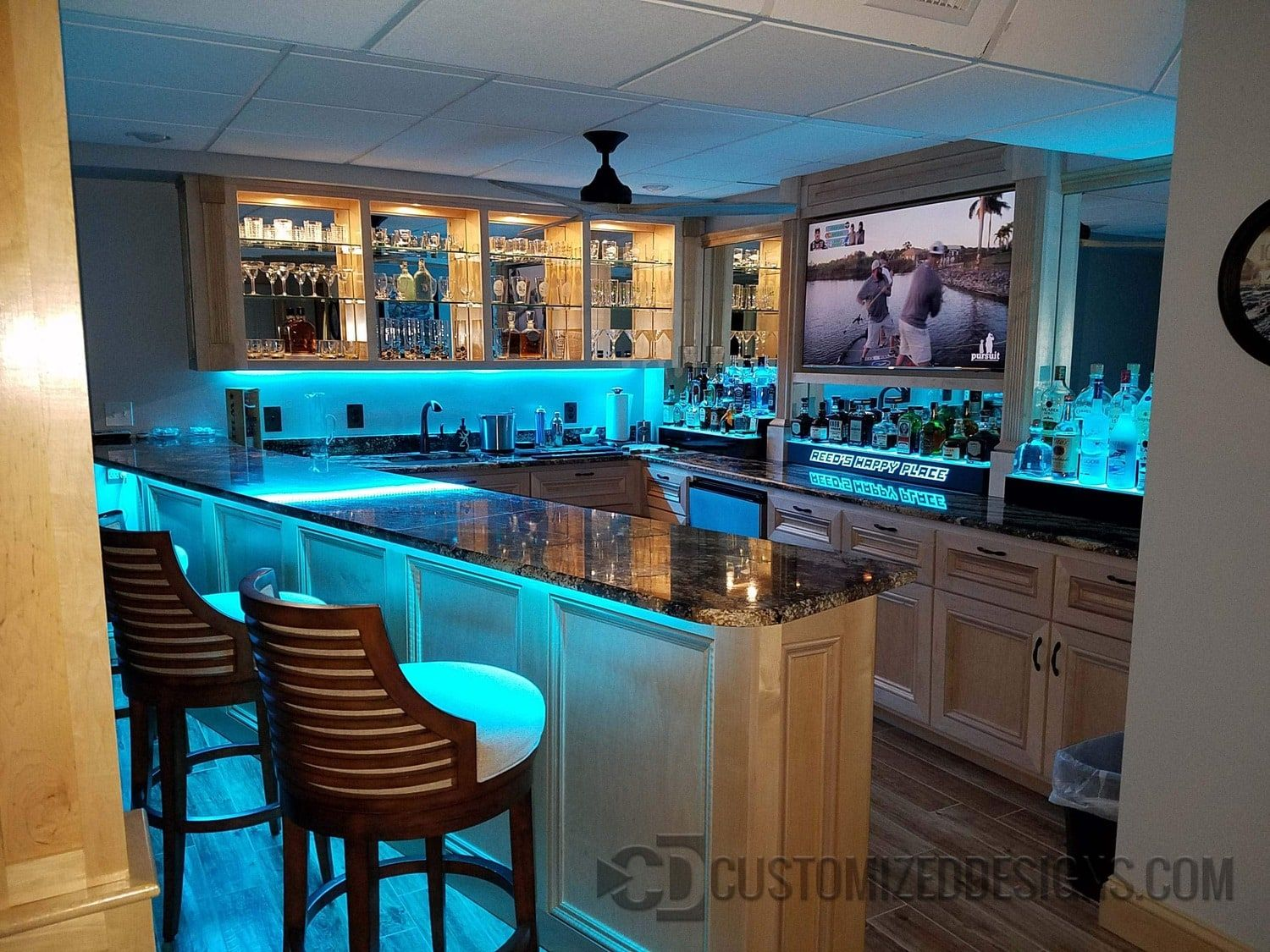 LED Lighted Home Bar | Possibilities in 2019 | Bars for home