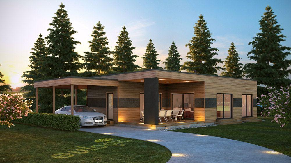 Architecture extérieur 3d maison bois