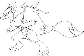 Resultado De Imagen Para Pokemon Para Colorear Zoroark Pokemon Pokemon Colores
