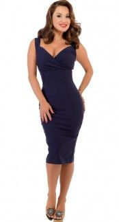 Steady Clothing Diva Dress in Navy Blame Betty