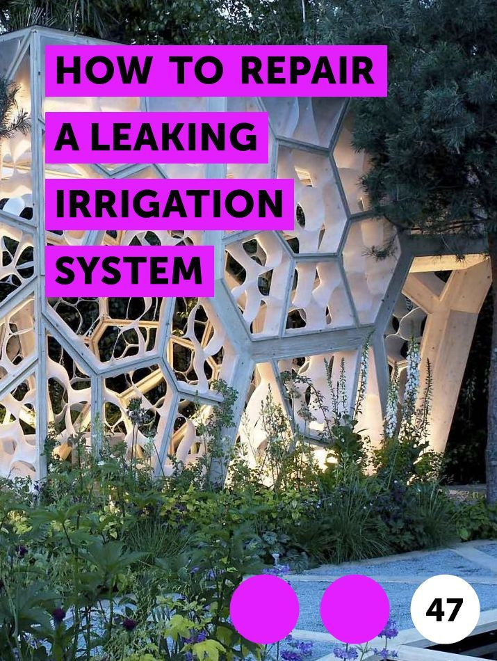 How to Repair a Leaking Irrigation System | Golf courses ...