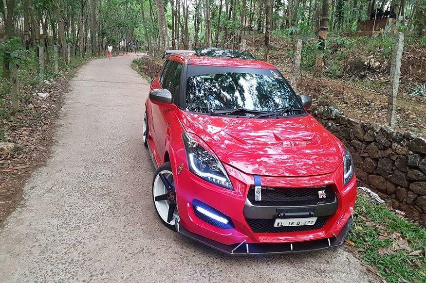 Maruti Suzuki Swift Modified To Look Like Mini Nissan Gt R