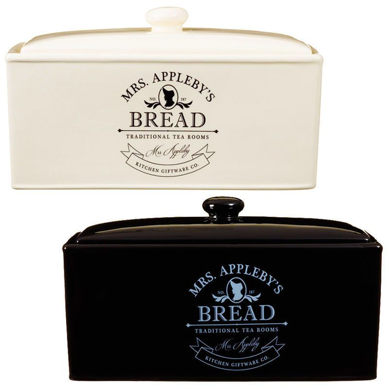 Tea Room Ceramic Kitchen Bread Bin