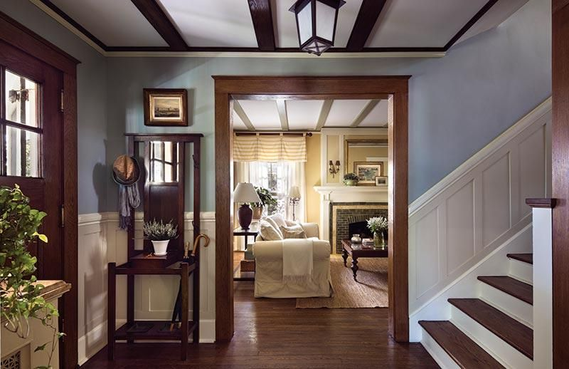 Gary brewers american foursquare white wainscoting
