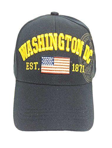 20153f0bb9540 Aesthetinc American Flag Washington DC Baseball Cap with Great Seal Print  Embroidered