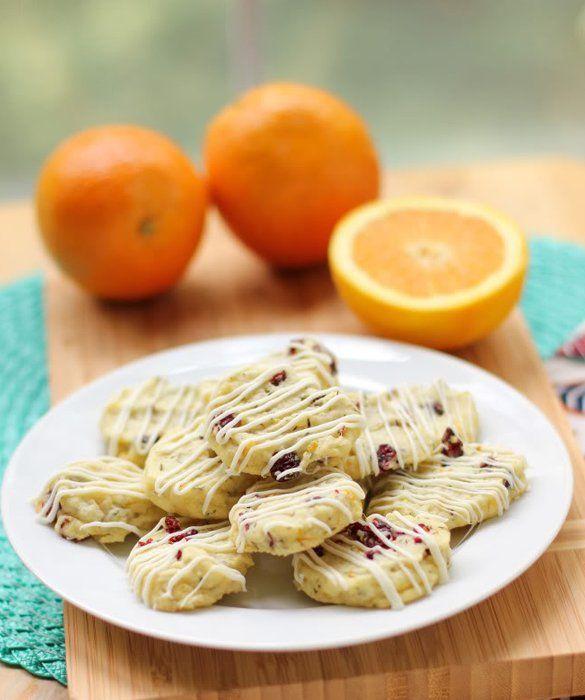 Thyme Orange Cranberry Shortbread Cookies