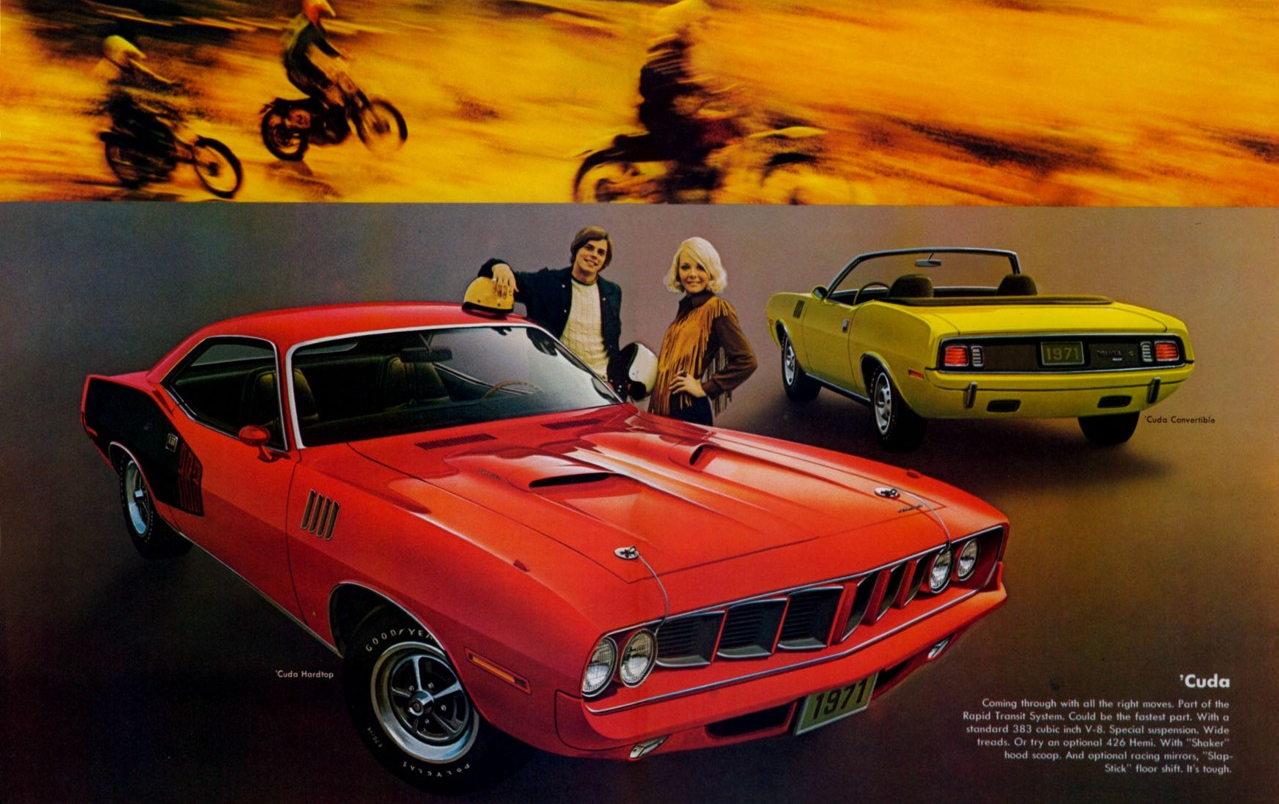 His And Hers Muscle Cars Muscle Car Ads Classic Cars Muscle Plymouth Barracuda