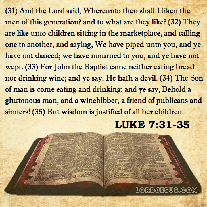 Luke: Chapter 7 - Wycliffe, Tyndale, Geneva, KJV Bible | NT